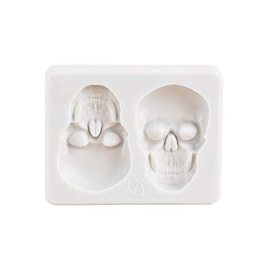 KOOBOOK 1Pcs Creative Skeleton Head Skull Silicone Cake Decoration Mold Chocolate Candy Molds Pastry DIY Candy Tools