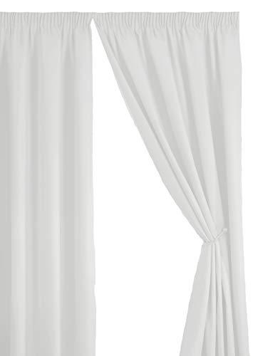 Simply Style Paire de rideaux prêts à poser Envers thermique 66x72in(167x182cm) blanc