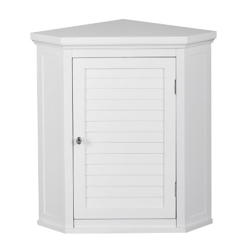 Elegant Home Fashions Adriana Corner Wall Cabinet with...