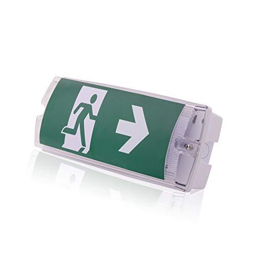 Notleuchte Notausgang EXIT Fluchtwegleuchte Notlicht LED Kunststoff