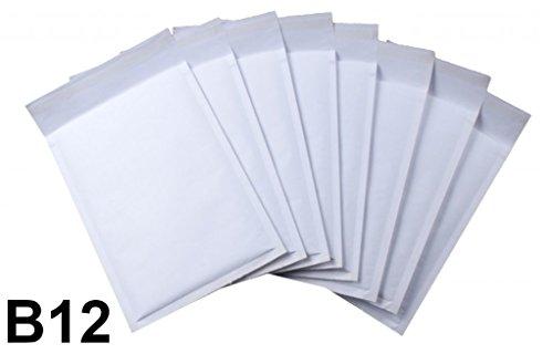 10 x Gepolsterte Umschläge von Net4Client - Bubble Bags Weiße Versandtaschen Bubble Versandtaschen Quick & Easy Verpackung B12 Größe 140x225mm