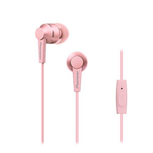 Pioneer SE-C3T(P) In-Ear Kopfhörer (Aluminiumgehäuse, Bedienelement, Mikrofon, Silikon-Ohrstöpsel, leicht-kompakt-bequem, Industrial Design, für iPhone, Android Smartphones), Rose Quartz