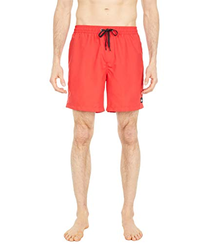 Quiksilver Herren Swim Trunk Boardshort Badehose, High Risk Red Everyday Volley 17, Large