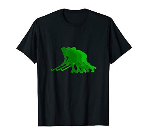 Rollhockey Silhouette grün T-Shirt