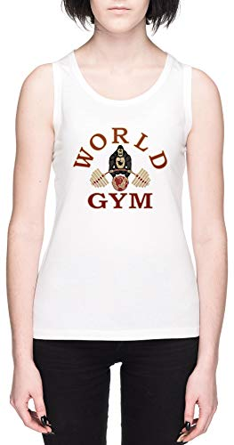 World Gym Blanca Mujer Camiseta De Tirantes Tamaño XL White Women's Tank tee Size XL