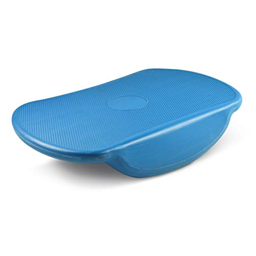 Sport-Thieme Balance-Board Wackelbrett | Belastbare Balance-Wippe für Erwachsene u. Kinder | Platzsparend, Sicher | Anti-Rutschoberfläche, Kunststoff | 42x30x8,5 cm | 1,1 kg