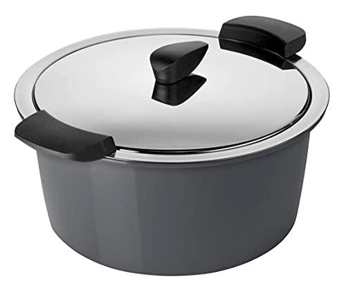 KUHN RIKON HOTPAN - Olla térmica con tapa, 2 litros, 18 cm, para cocinar al vapor, mantener el calor, apta para inducción, acero inoxidable