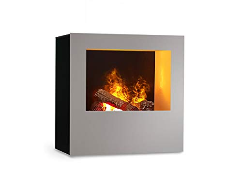 Magma infraroodhaard (zilver/zwart), verwarmbare elektrische kachel met Optimyst vlamsimulatie