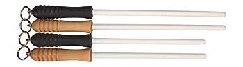Idahone Fine Ceramic Sharpening Rod  12  Black Handle