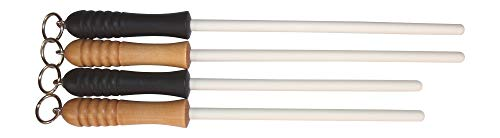 Idahone Fine Ceramic Sharpening Rod (12', Black Handle)