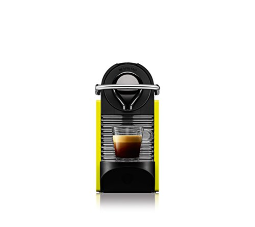 Krups Nespresso Pixie Clips XN3020 Coffee Capsule Machine 0.7 Litres Black and Electric Lemon