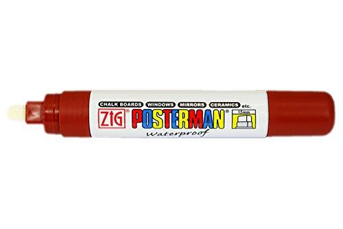 Zig Posterman Marqueur imperméable à pointe large 15 mm Marron