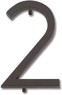 Atlas Homewares AVN2-O Modern Avalon House Number, Two, Aged Bronze