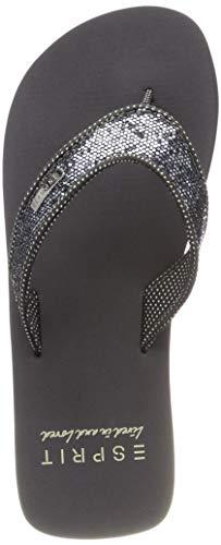 ESPRIT Mädchen Glitter Thongs Pantoletten, Grau (Gunmetal 015), 33 EU