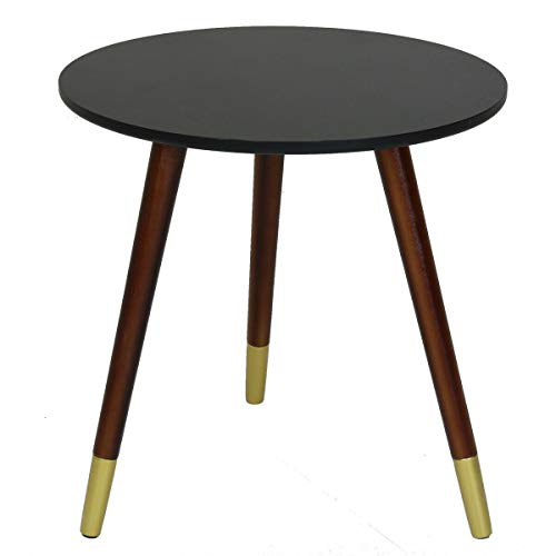 Black Side Table with Gold Feet Coffee Sofa End Bedside Stand