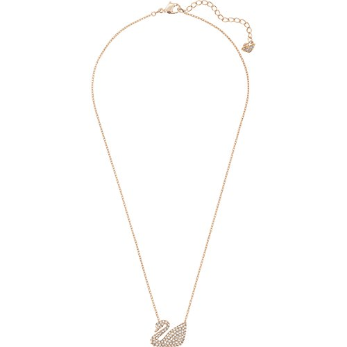 Swarovski Collana Swan, Bianco, Placcato Oro Rosa