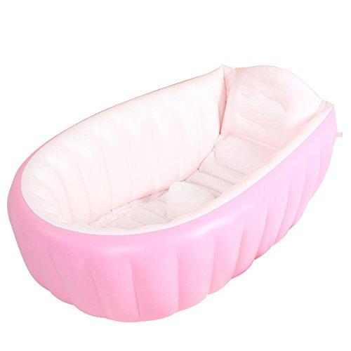 Pratique portable Thicken Hardy enfant baignoire gonflable adulte Sauna Baignoire La baignoire pliable QLM-Baignoire gonflable et bain gonflable (Couleur: bleu) , pink , 98cm