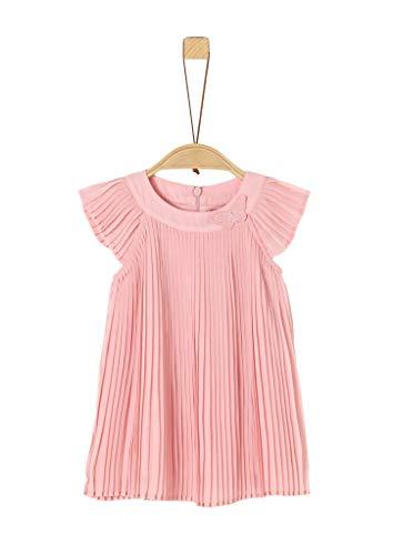 s.Oliver Unisex - Baby Plisseekleid aus Chiffon light pink 92