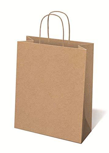 Idena 50055 - Bolsa de Papel Kraft, 25 x 8,5 x 34,5 cm, Mezcla FSC, Bolsa de la Compra, Bolsa de Regalo, Caja de Regalo