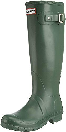 HUNTER Damen Wellington Boots Gummistiefel, Grün (Green HGR), 43 EU