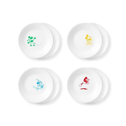 Corelle Disney Mickey Mouse-The True Original 6.75' Appetizer Plates, 8 Pack (Disney Mickey Mouse - The True Original)