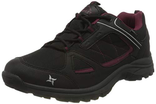 McKINLEY Multifunktionsschuh Maine AQ, Chaussures de Randonnée Basses Femme, Noir (Schwarz/Rot/Weinrot 000), 39 EU