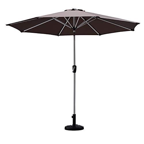 ZJM-umbrella Parasols Parasol de Jardin Gazebo Marron, Dernier Parapluie de Table Marché Plus Long sans Base, Parapluie D'extérieur Robuste et Durable