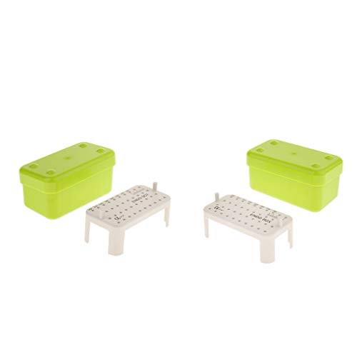 SDENSHI 2 X Endo Box Autoklaveninstrument Caddy File Storage Green