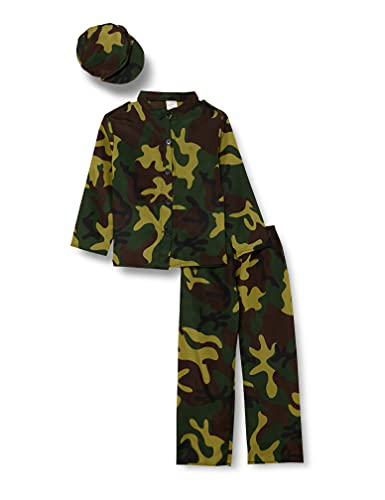 Ciao Militare costume bambino, Camouflage, 7-9 Anni