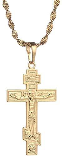 NC190 Collar de Cristianismo ortodoxo Collar de Iglesia Colgante Cruz eterna Rusia Grecia Ucrania joyería