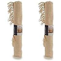 Dream Hogar Jarapa Alfombra Pack x2 Natural Algodon 50x80 cm