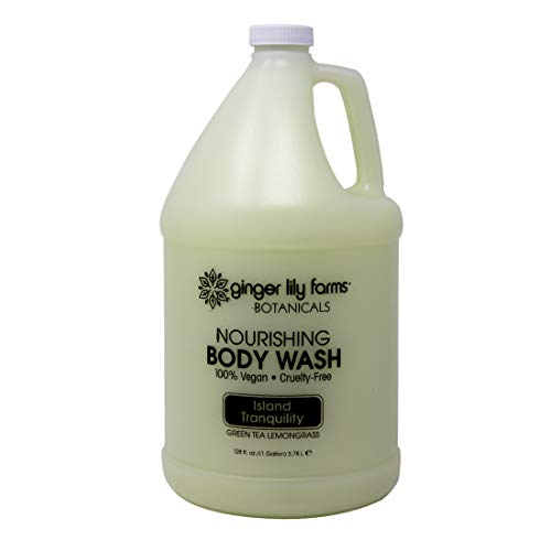 ForPro Ginger Lily Farms Botanicals Island Tranquility Nourishing Body Wash, Softens, Nourishes and Cleans Skin, Natural Spa Quality, 100% Vegan and Cruelty-Free, 1 Gallon