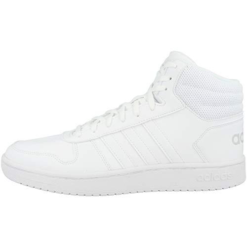 adidas Hoops 2.0 Mid, Zapatillas Altas Mujer, Blanco (Footwear White/Footwear White/Footwear White 0), 38 EU