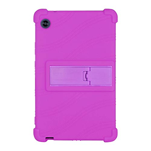 Runxingfu Impact Resistant Stand Silicone Soft Skin Shockproof Protective Cover Case for Huawei MatePad T8 2020 KOB2-L09/W09 8.0 inch Tablet