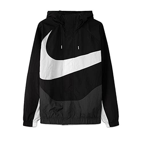 Nike M NSW Swoosh Wvn LND Jkt Giacca, Black/Anthracite/White/White, XL Uomo