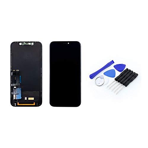 Scherm zwart (6,1 inch) compatibel met de iPhone XR | Liquid Retina IPS LCD-scherm incl. DIY reparatieset