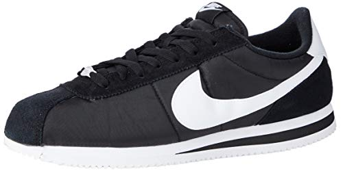 Nike Cortez Basic Nylon, Scarpe da Fitness Uomo, Multicolore (Black/White/Metallic Silver 011), 43 EU
