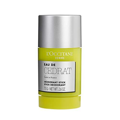 L'Occitane Men's Energizing Cedrat Solid Stick Deodorant, 2.6 oz