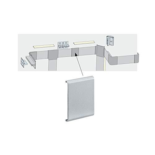 Paulmann 70270 Duo Profil Cover verdeckt Profilansätze und Schnittkanten 4er Pack Duo Profil Zubehör Alu matt Kunststoff für LED Strips