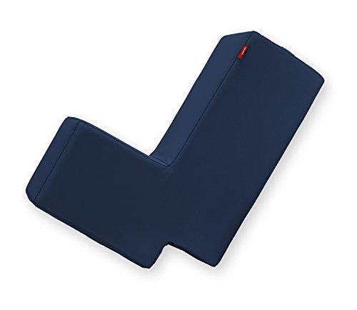 Lümmel Polsterhocker zum Sitzen, Spielen und Rumtoben - Loungemöbel & Spielmöbel für Kinder und Erwachsene - dunkelblau