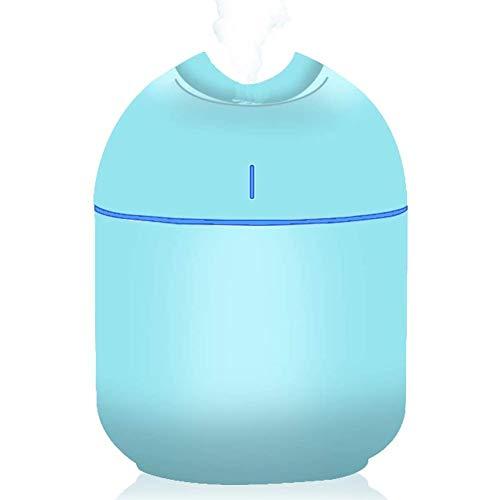 Mini Humidificador, USB Aceites Esenciales Difusor de Aromas Portátil Difusores de Aromaterapia con Luces LED de Colores, Humidificadores de apagado Automático sin Agua para Bebé, Hogar, Coche,Oficina