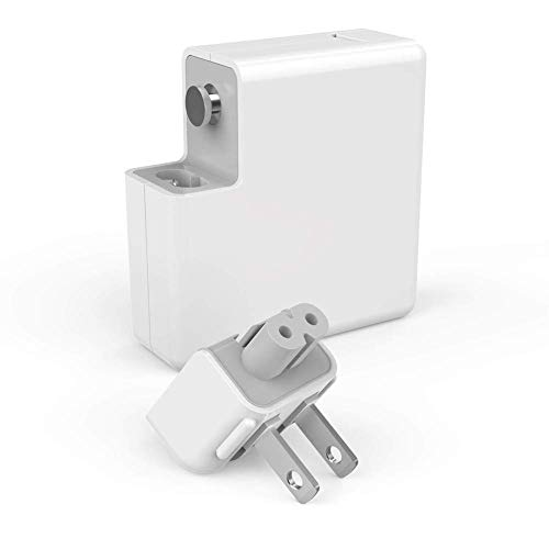 Mac Book Pro Charger, 60W Magsafe1 Power Adapter L-Tip Magnetic Connector Charger for Mac Book and 13-inch Mac Book Pro(Before Mid 2012 Models) (White)