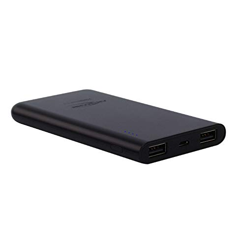 ANSMANN 5400mAh powerbank in zwart met 2 USB-poorten & LED-statusweergave, Powerbank 5.000 mAh, 5000mAh, zwart