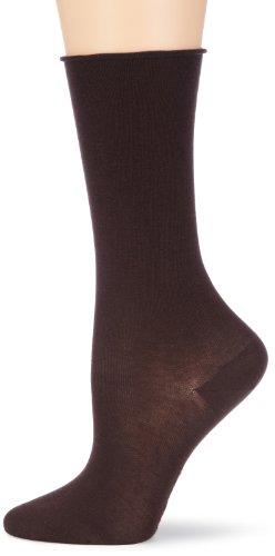 Hudson Damen Relax Cotton Light Socken, Blickdicht, Braun (Schwarzbraun 0778), 35/38