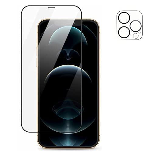 TADMA Displayschutzfolie für iPhone 13 Mini aus gehärtetem Glas, 0,26 mm, 9D, transparent, bruchsicher, kratzfest, Displayschutzfolie aus Glas 5,4 Zoll + Displayschutzfolie für Kamera