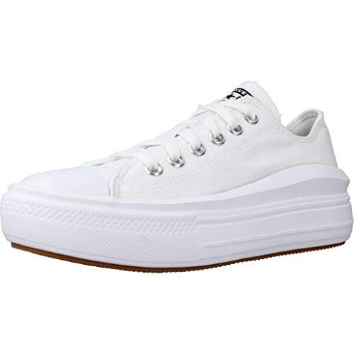 Converse Calzado Deportivo Mujer CTAS Move OX para Mujer Blanco 39.5 EU