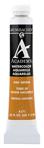 Grumbacher Academy Watercolor Paint, 7.5ml/0.25 oz., Raw Sienna (A171)