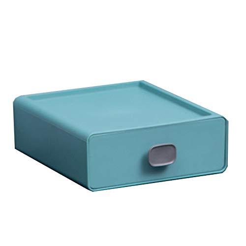 Heizung Organizador de casa Cajón Desktop Storage Caja de Almacenamiento Oficina Mueble de Acabado Estante Multi-Capa Caja pequeña Artefacto para Juguetes, Libros, Armario, Dormitorio. (Color : Blue)