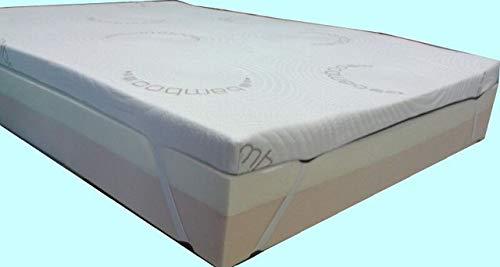Dorsalmedic surmatelas mémoire de Forme 70 x 190 x 8cm réels- Efficace Contre sciatique,hernie discale, lombalgie,fibromyalgie,etc.
