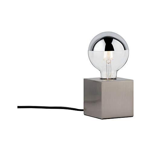 Paulmann 79730 Tischleuchte Kura max. 20 Watt Nachttischlampe Eisen gebürstet Tischlampe Metall E27